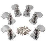 Chrome Guitar String Tuning Pegs Heads Acoustic 6 PCS Right Left