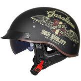 GXT DOTレトロオートバイヘルメット男性女性モトヘルメット夏オープンフェイススクーターバイカーバイク乗馬ヘルメット認証MT-4