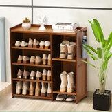 Многослойная стойка для обуви Полка для хранения обуви Экономия места Органайзер Подставка для украшения книг для домашнего офиса