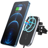 CHOETECH 15W Magnetic Air Vent Wireless Car Charger Mount for iPhone 12 Pro Max for iPhone 12 Pro for iPhone 12 Mini for Samsung Galaxy S21 Note S20 ultra Huawei Mate40 P50 OnePlus 9 Pro