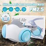 Silicone Máscara PM2.5 Anti-poeira Máscara Respirador de pó lavável e reutilizável Máscara
