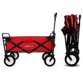 [FROM ] LEKONG 90L Collapsible Wagon Cart Outdoor Four-wheel Folding Portable Car Bearing 330lbs Heavy Duty 600D Oxford Cloth Folding Barrow Utility Outdoor Camping Garden Cart