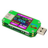 RIDEN® UM24/UM24C USB 2.0 Color LCD Display Tester Voltage Current Meter Voltmeter Amperimetro Battery Charge Measure Cable Resistance