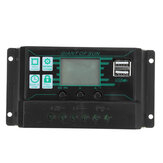 10A-60A Amp Solar Panel Battery Regulator Charge Controller 12/24V Auto Dual USB