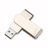 U&H JSXZ2.0 Mini USB 2.0 32GB 64GB USB Flash Drive Memory Disk 360° Rotation Metal Portable U Disk Customized for Gifts