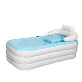 Baignoire chaude gonflable pliable de baignoire portative de PVC d'enfant adulte bleu 63
