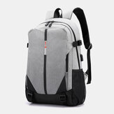 Fashion Large Capacity Light Weight Backpack With USB Charging Port