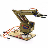 DIY 4DOF acrylique RC Robot Arm Gripper Kit éducatif avec MG90S servos