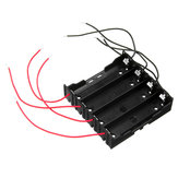 3pcs DIY 4 Slot 18650 Battery Holder With 8 Leads