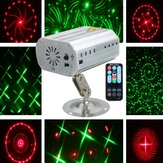 Projektor laserowy Mini Auto / Voice LED Stage Light 12 wzorów DJ Disco Party Club Lampa AC100-240V