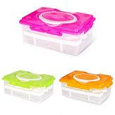 Double Layer 24 Grid Egg Box Kitchen Storage Container Holder Food Organizer Fridge Crisper