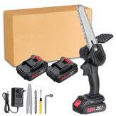 88VF 6 Inch Mini sierra de cadena eléctrica Batería Indicador recargable para carpintería herramienta W / Ninguno / 1/2 Batería