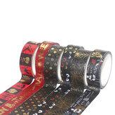 6 Rollen einfarbig DIY kreative Masking Tape Weihnachtsgeschenk Dekoration Etikett Paket Siegel Papier Aufkleber