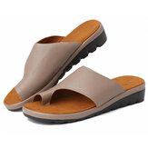 Női ortopéd szandál nyári női flip-flop komfortos ék platform csúszásgátló kényelmes sétáló alkalmi csipesz orr lapos strandcipő