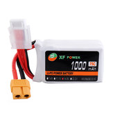 XF POWER 14.8V 1000mAh 75C 4S Lipo Battery XT60 Wtyczka do RC Racing Drone