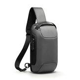Mark Ryden MR7116 Cofre antirrobo Bolsa Bandolera Bolsa Negocios Bolsa Bolso de mano con carga USB para hombre Almacenamiento de viaje Bolsa