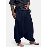 Original              Banggood Design Mens Solid Color Elastic Waist Drop-Crotch Pants