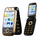 BLT V998 2.6'' 2000mAh Dual Touch Screen Dual SIM Flip Feature Phone
