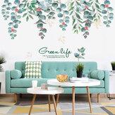 Съемные зеленые наклейки в скандинавском стиле Лист для гостиной, спальни, столовой, кухни, настенные наклейки, фрески для диванов