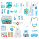 44pcs Children Play House Doctor Toy Set Simulation Medical Kit Injection Role Play Classic Toys for Children