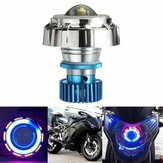 12V LED Projetor Kit Hi / Low Beam Farol Angel Devil Eye Motorcycle