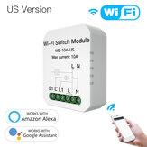 MoesHouse MS-104-US Mini Module de commutateur de lumière intelligent WiFi bricolage unipolaire / Module 3 voies 1 Gang Smart Life / Tuya App pour Amazon Alexa et Google Home