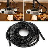6m Tidy Wire PC TV Organising Wrapping Cable Cover Spiral Office Tube Manage Cord