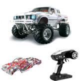 HG P407 com 2 Conchas 1/10 2.4G 4WD Carro RC para TOYATO Metal 4X4 Pickup Truck Veículo RTR