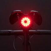 ROCKBROS 100LM Fahrrad Rücklicht Bremssensor Rücklichter 7 Modi USB wiederaufladbare Sicherheitswarnlampe
