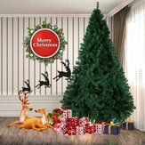 7Ft 2.1m Green Artificial Christmas Tree Solid Stand Holiday Home Decoration
