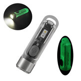 NITECORE TIKI GITD Glow-in-the-dark 300lm Mini LED Keychain Light High CRI UV EDC Flashlight Self-luminous Camping Light