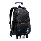 2/6 Wheels Trolley Backpack Children Kids Student School Luggage Bag Outdoor Travel