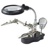 LED Свет Паяльная стойка Стенд паяльника Помощник рук для увеличения Стеклянная лупа