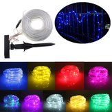 10m 100LEDs Solar Rope Tube Lights Led String Strip Waterproof Christmas Party Decor