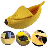 Mascota Perro Gato Cama Cálida Casa Mat Durable Kennel Perrogy Soft Puppy Cushion Banana Shape Basket