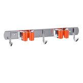 2pcs suporte de vassoura de esfregão de montagem na parede 4 racks 6 ganchos gancho de armazenamento de garagem
