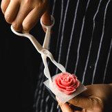 KCASA KC-PS02 Decoração De Bolo De Fundante De Plástico Piping Scissor Shear Flower Folha Destacável Ferramentas De Assar