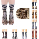 1 par 3D Animal Print Adult Unisex Crew Calcetines largos Soft Casual Cute Cotton Calcetines Cosplay