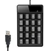 19 Keys Mini Numeric Keyboard 2.4G/bluetooth4.0 Wireless Waterproof Number Keypad Wired Digital Keyboard for Desktop Computer Laptop