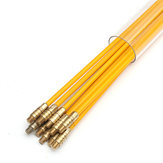 10Pcs 15FT Fiberglass Running Cable Wire Kit Coaxial Electrical Cable Installing Rods