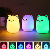 LED Small Night Light Slaaplamp Babykamer Rabbit Bear Light Kinderbedlampjes Afstandsbediening