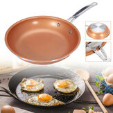 9inch Aluminum Stainless Steel Round Non Stick Copper Frying Pan Cookware Handle Frying Pan