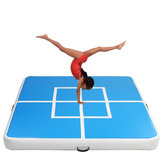 78.74x78.74x5.9inch Inflatable Gym Air Track Gymnastics Mat Tumbling Training Exercise Practice Airtrack Pad