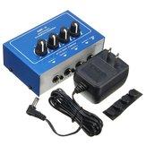 AMP-i4 Miniprofessional Portable 4 Channel Channel Amplificatore Audio Stereo Mixer