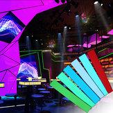 12x2 Zoll 12V Flexibles Elektrolumineszenzband EL Panel Hintergrundbeleuchtung Dekorationen Licht mit Wechselrichter