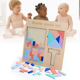 Baby Wooden Tetris Puzzles Toys Kids Children Toddlers Educational Preschool Game Blocks Toys