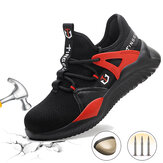 Unisex Safety Shoes Steel Toe Work Boots Anti-puncture Breathable Running Shoes Walking Hiking Jogging Sneakers