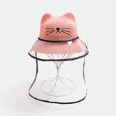 子供の猫の帽子の取り外し可能なフェイススクリーン