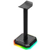 Suporte Redragon HA300 Fones de ouvido RGB Luminous 4X Portas USB 2.0 Suporte de suporte para fone de ouvido para jogos com base de borracha sólida antiderrapante