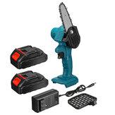 550W 48VF 4 '' Mini sierra de cadena eléctrica inalámbrica de una mano Cortador de madera para carpintería con 2 piezas Batería